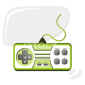 yeşil oyun konsolu Clipart Image.