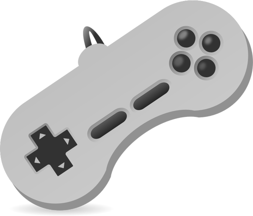 Vector illustration of game console two hand joystick.