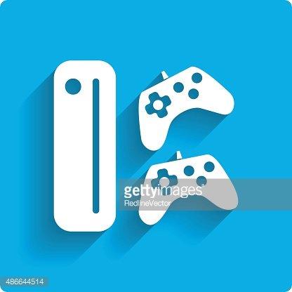 Oyun çubukları ile oyun konsolu Clipart Image.
