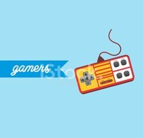 Video Oyun Konsolu Tema stok vektörleri.