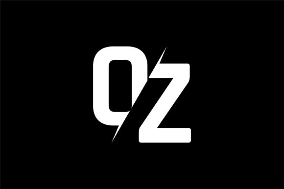 Monogram OZ Logo Design.