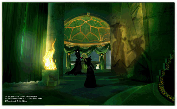 9 beautiful & bewitching concept art images from Raimi\'s new Oz.