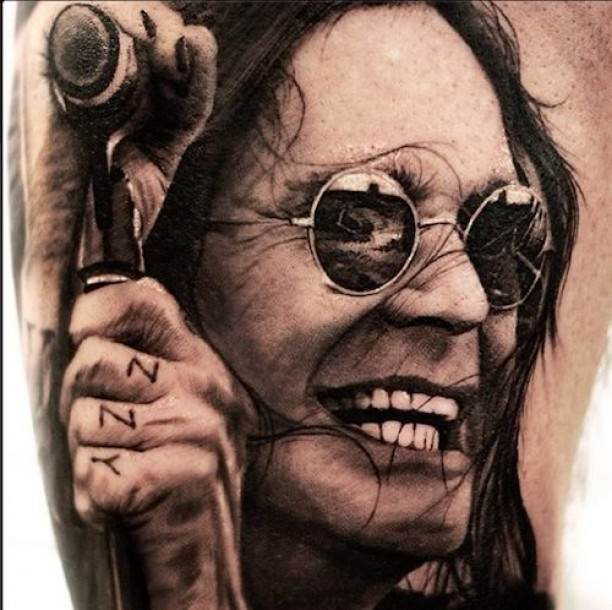 Ozzy Osbourne Tattoo Portrait.