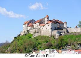 Stock Photography of Castle Laussel, middle.