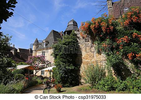 Stock Photos of Sarlat la caneda village, perigord, france.
