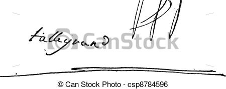 Clip Art Vector of Signature of Charles Maurice de Talleyrand.