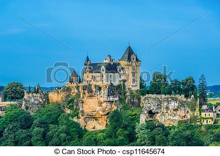 Picture of chateau de monfort souillac perigord france.