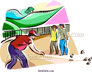 petanque players Vector Clip art.