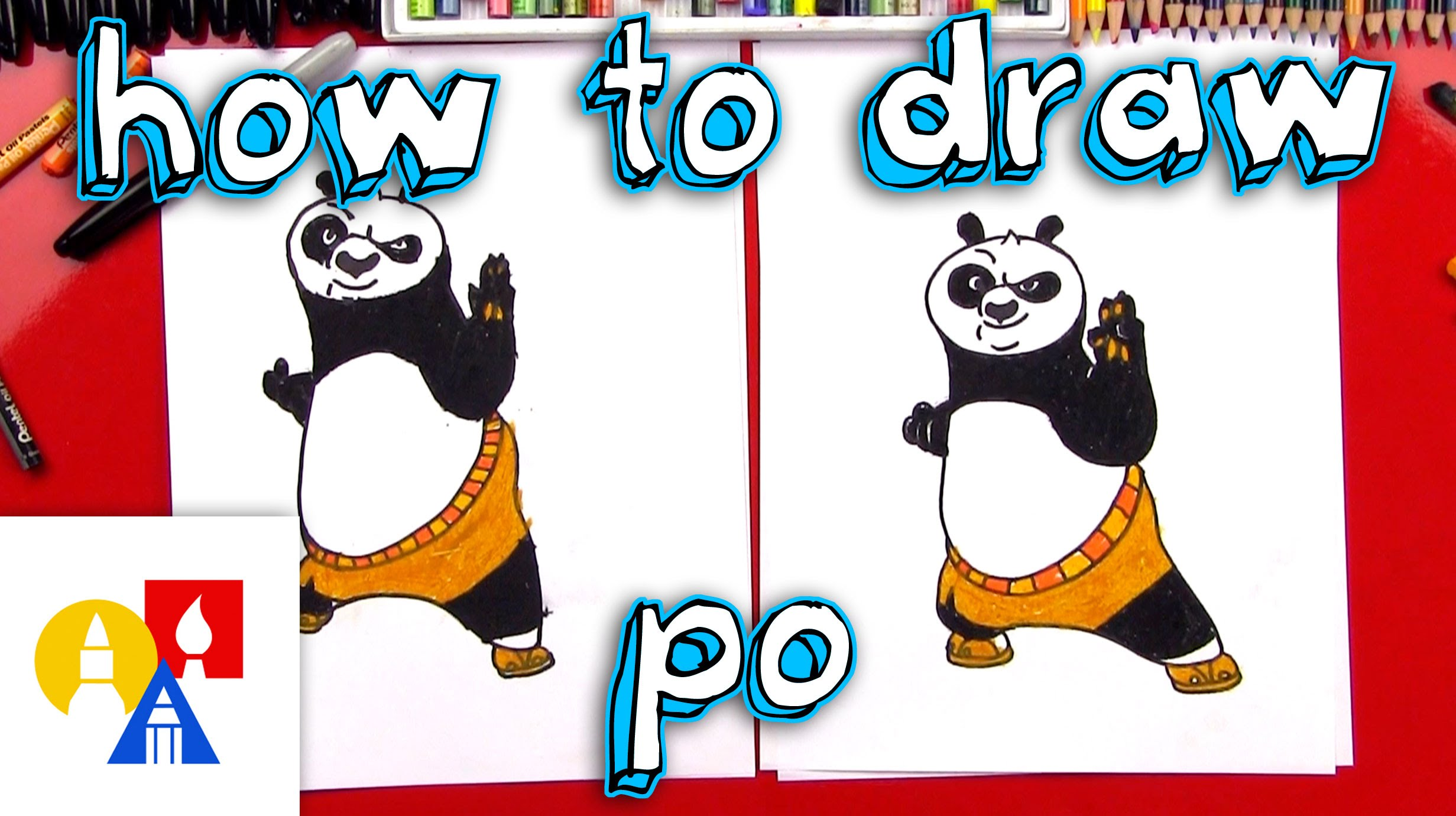 How To Draw Po From Kung Fu Panda.