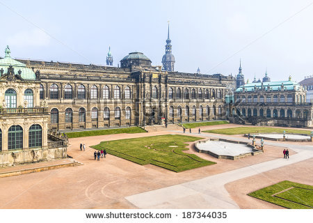 Panoramic View Of Zwinger. Zwinger Palace (Architect Matthaus.