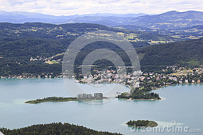 The Austrian Town Pörtschach Am Wörthersee Royalty Free Stock.
