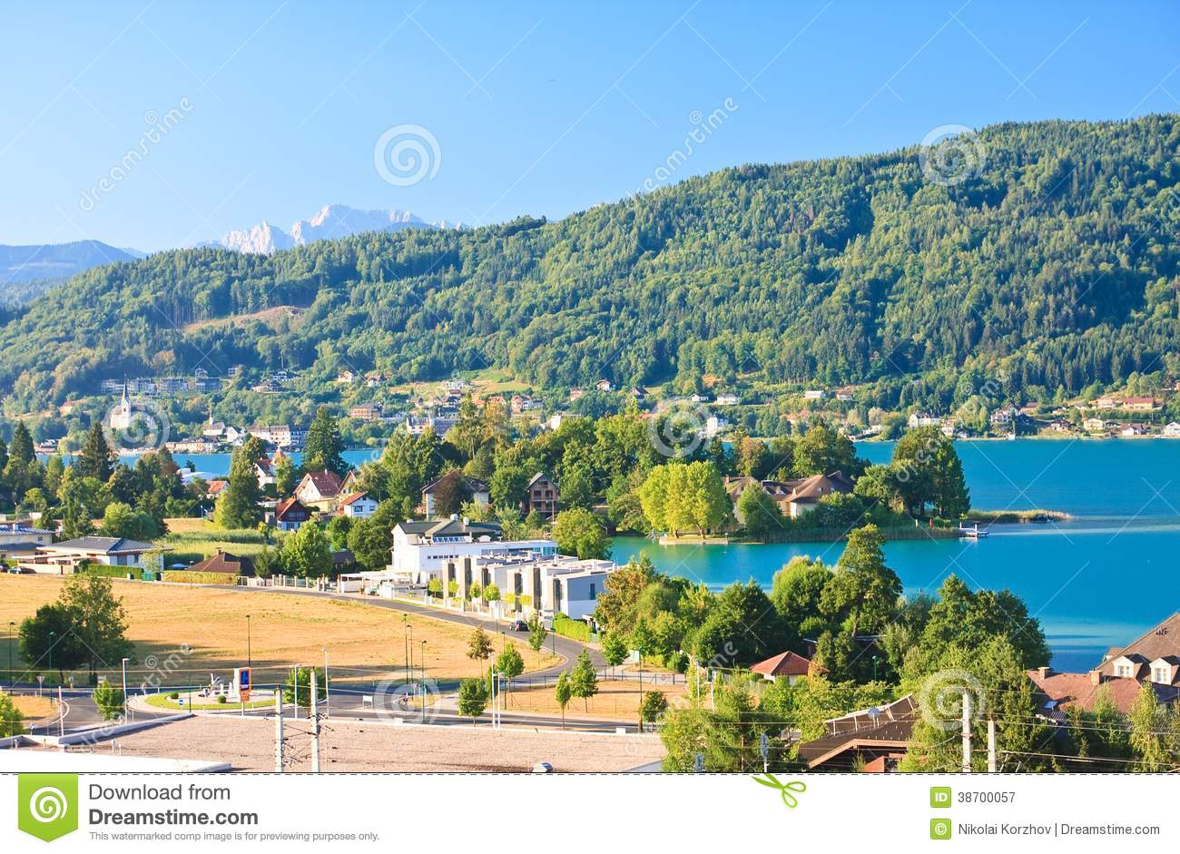 Resort Portschach. Lake Worthersee. Austria Royalty Free Stock.