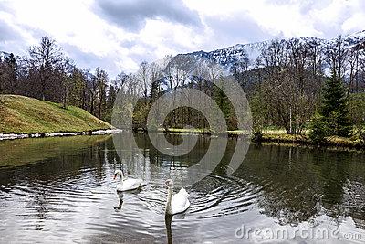 Oberammergau Mountain Stock Image.