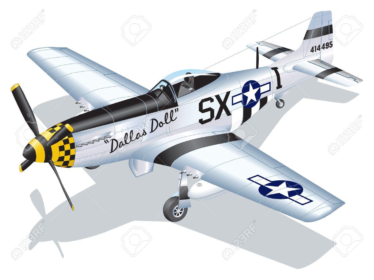 P 51 clipart.