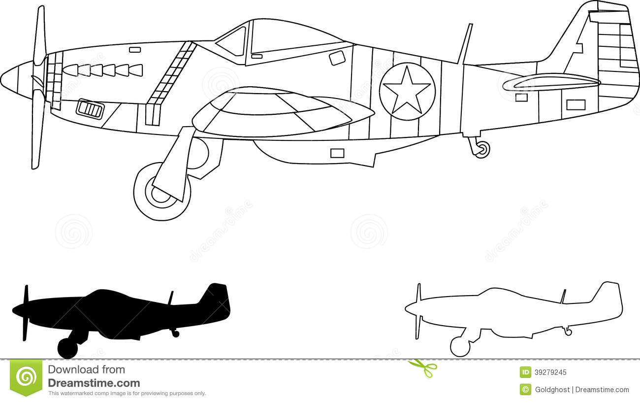 P51 Stock Illustrations.