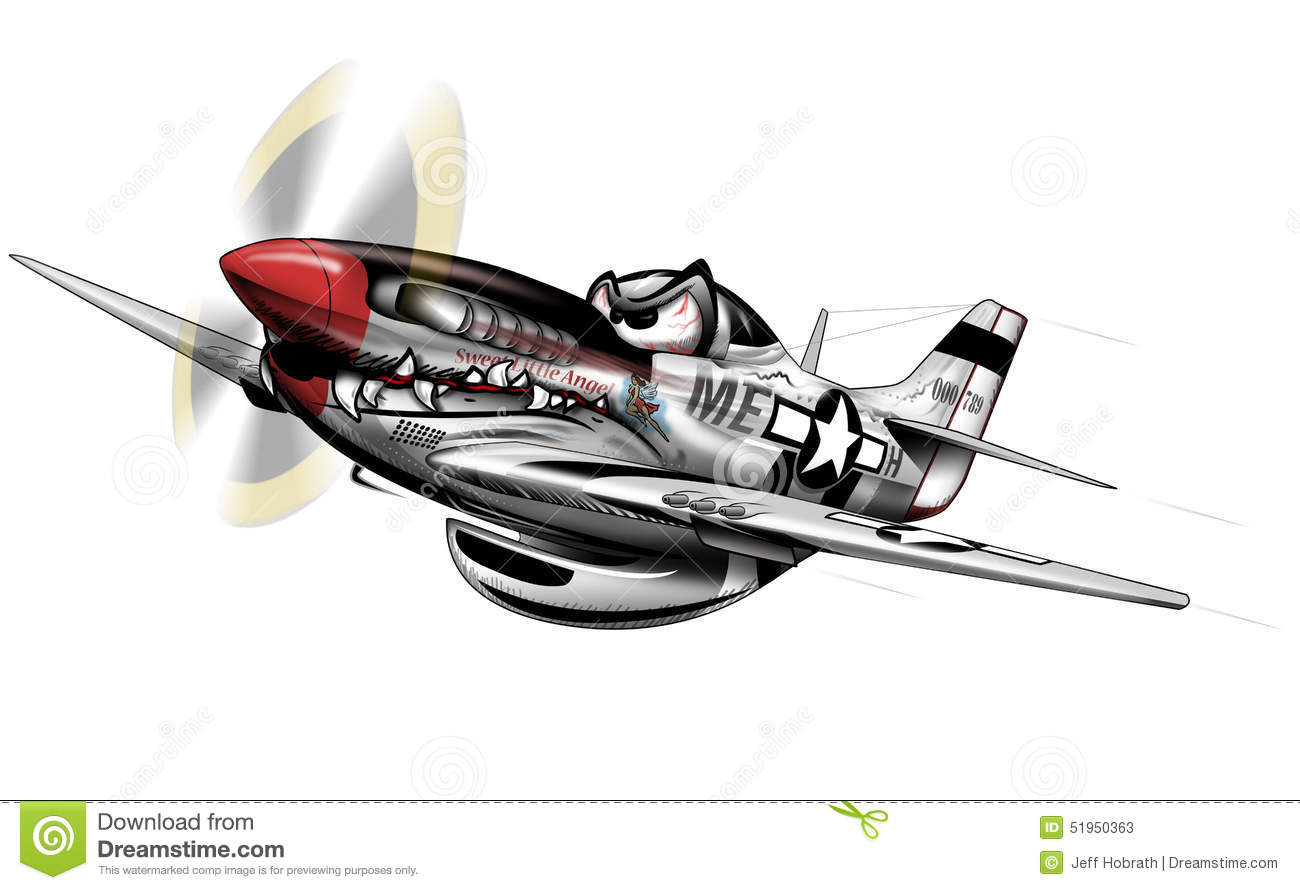 Plane mustang clipart.