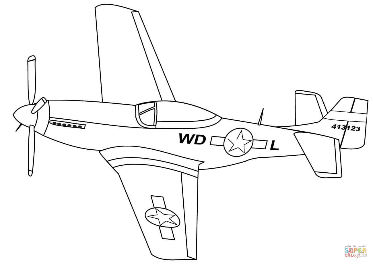 P 51 mustang clipart » Clipart Station.