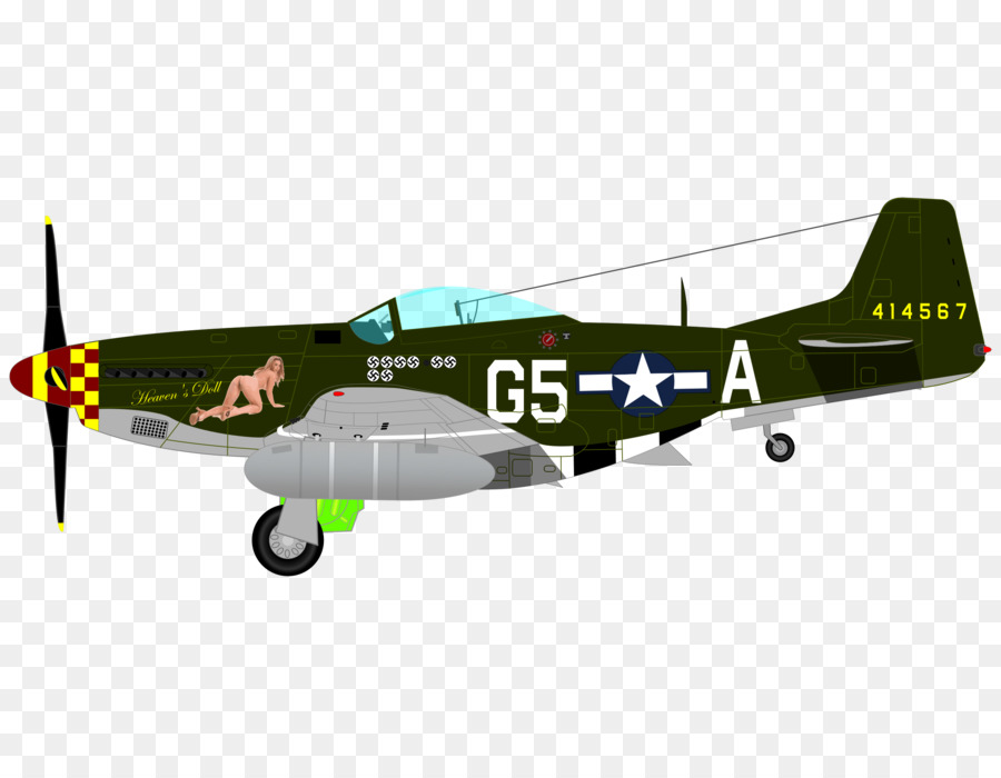 p 51 mustang clipart #6