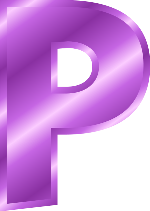 Alphabet letter clipart p.