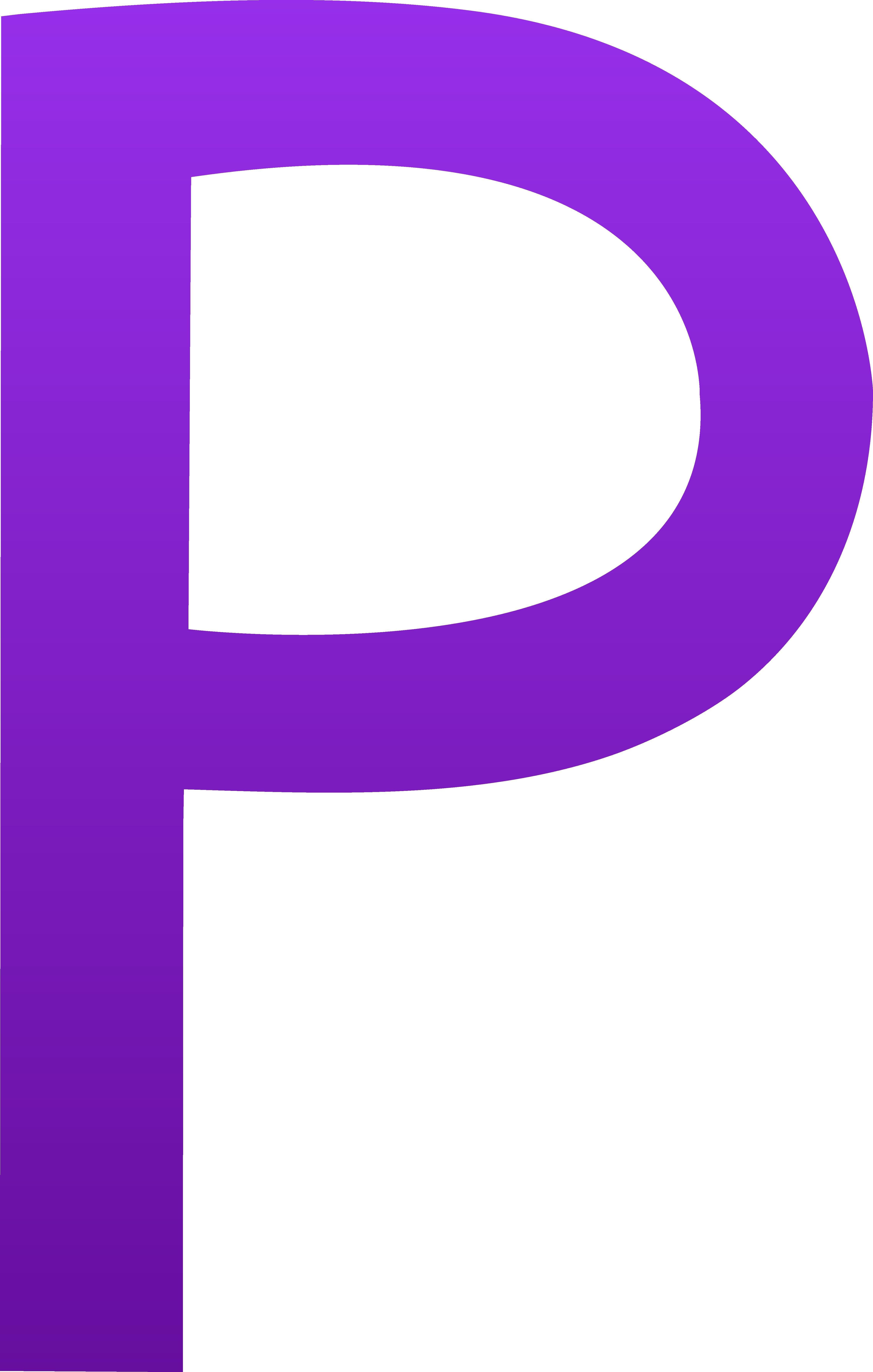 Cursive Letter P Clipart.
