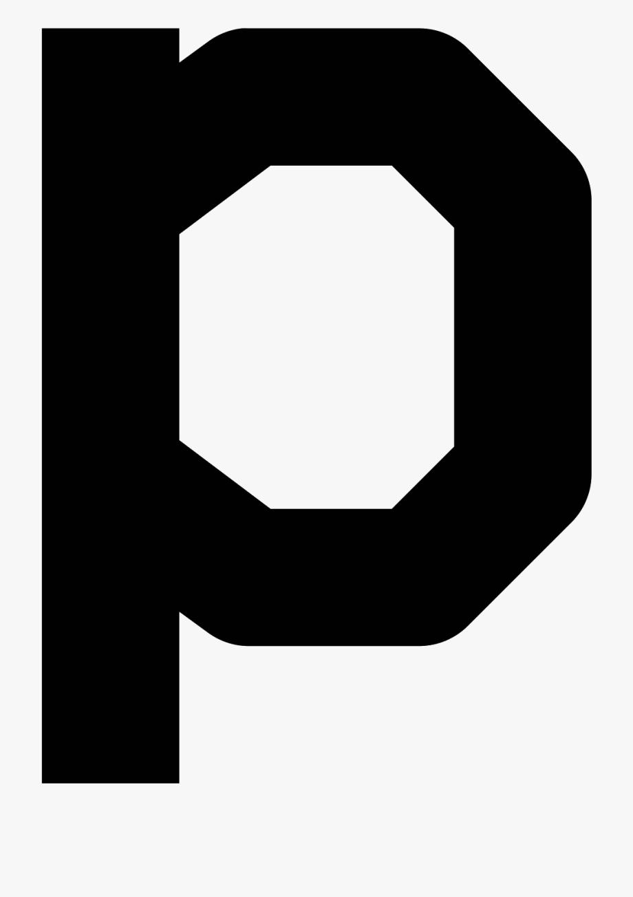 P Transparent Font Style Letter.