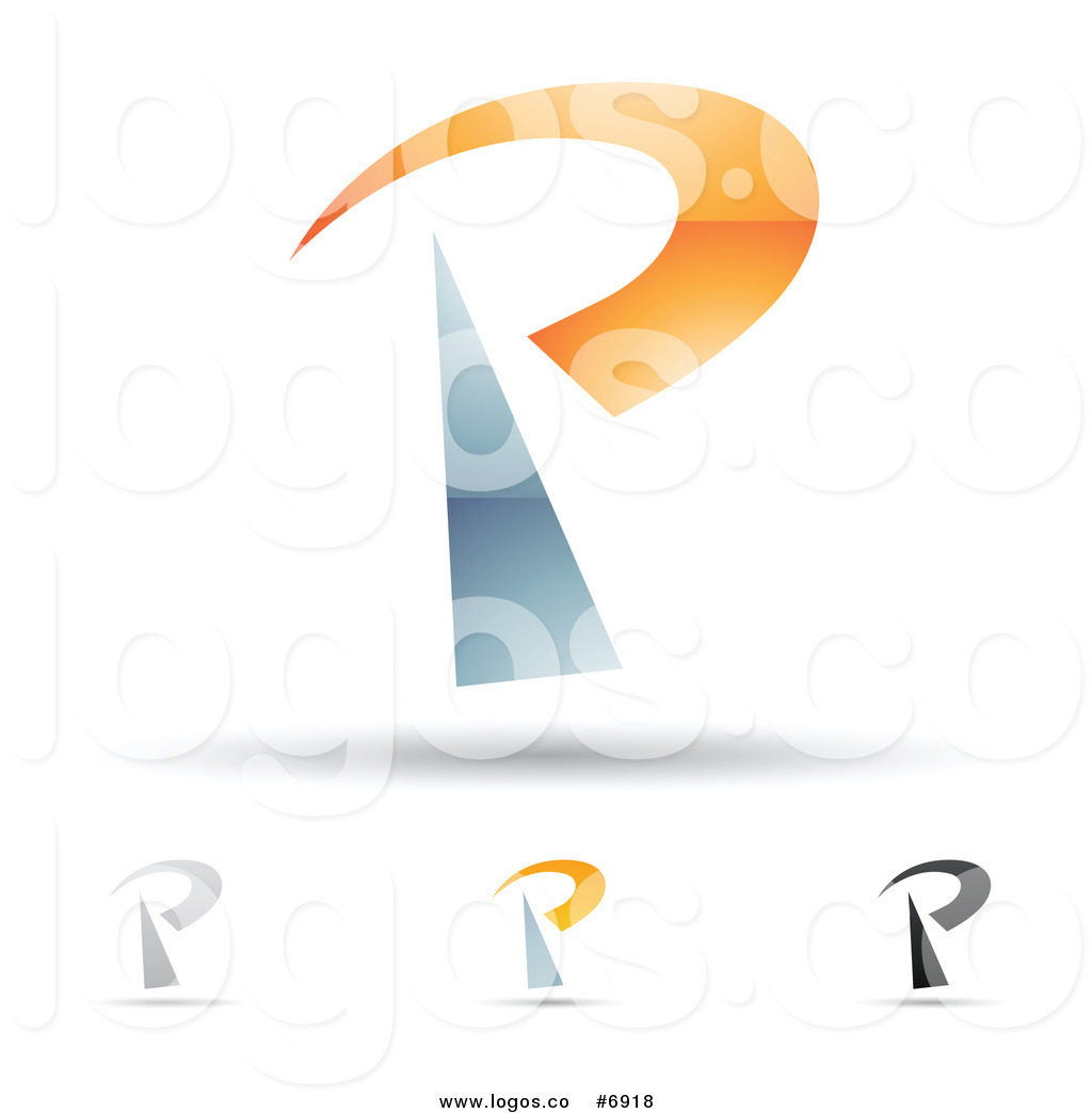 Royalty Free Clip Art Vector Logos of Abstract Letter P.