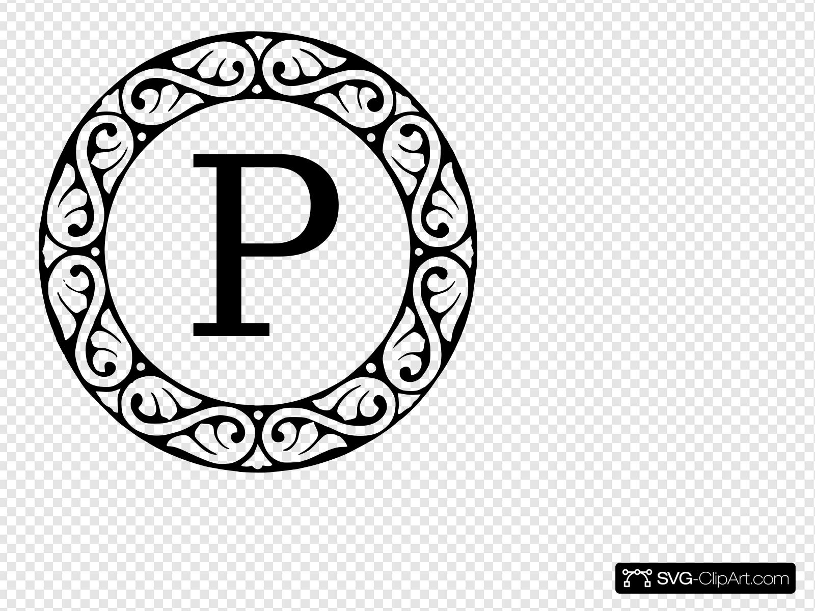Monogram Letter P Clip art, Icon and SVG.