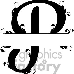 split regal p monogram vector design clipart. Royalty.
