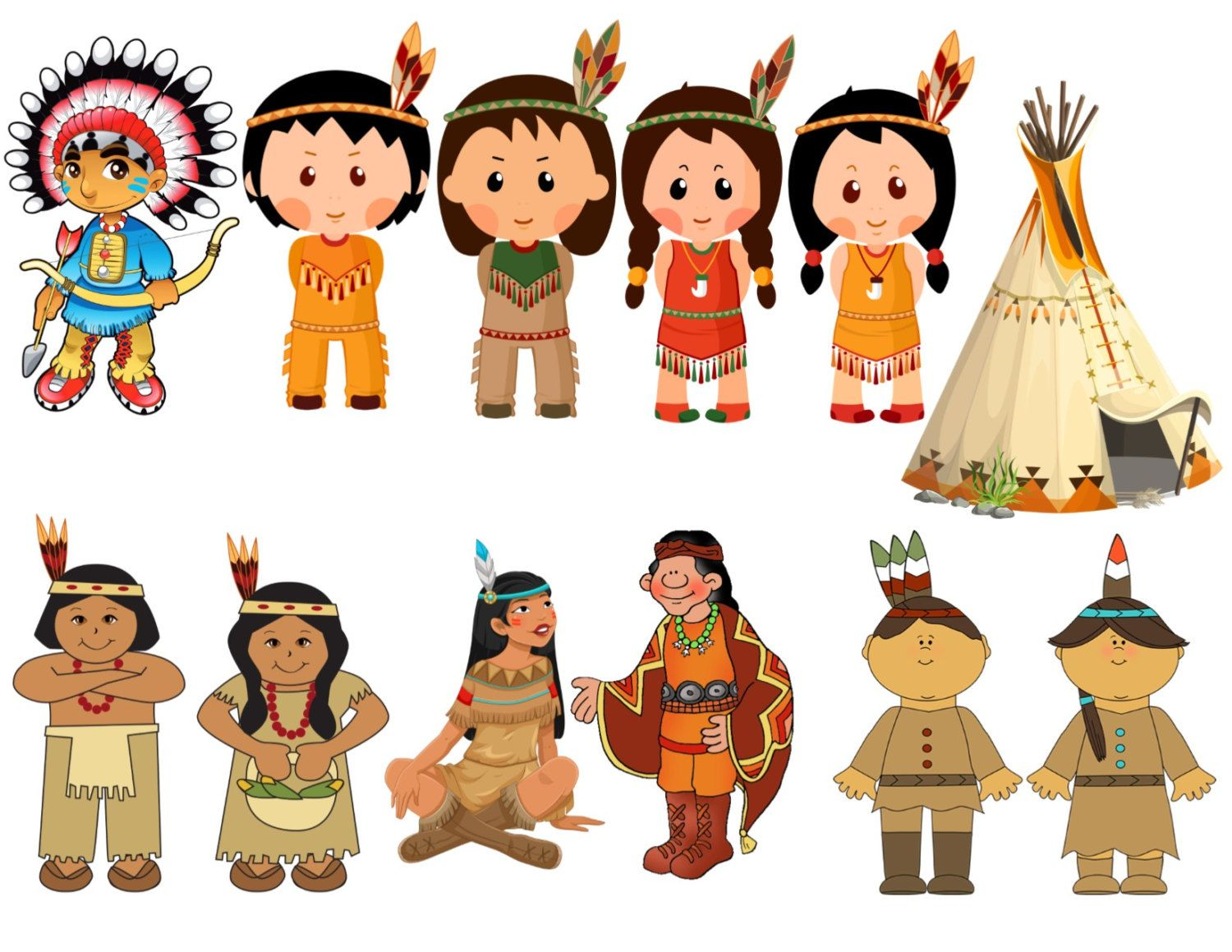 Native American, Indian, American Indian Image, Tepee Cutout.