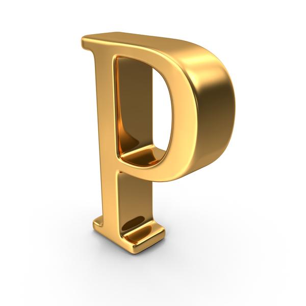 Gold Capital Letter P PNG Images & PSDs for Download.