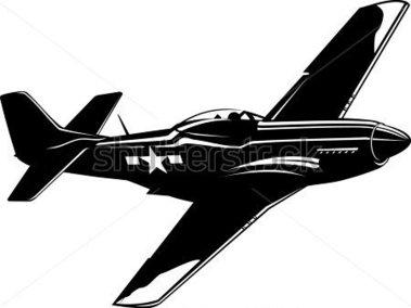 P 51 Silhouette Clipart.