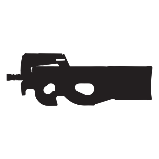 Fn p90 grey silhouette.