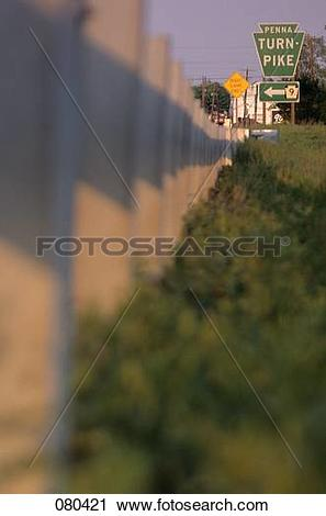 Stock Photography of 1980S Traffic Sign Pointing Direction To.