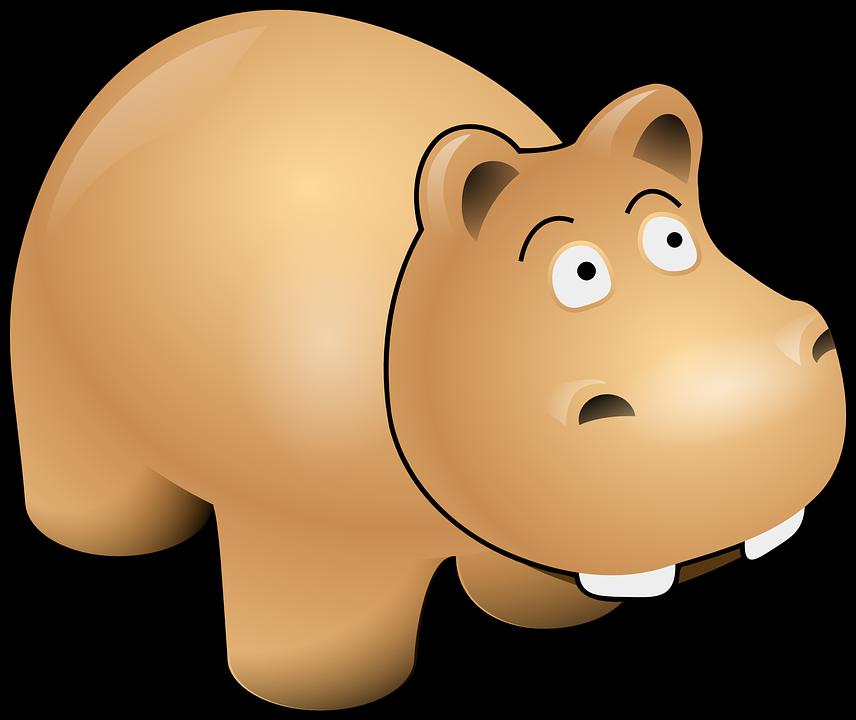 Free vector graphic: Hippo, Head, Cartoon, Cute, Grey.