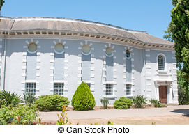 Stock Images of Original building of the Paarl Gymnasium, an.