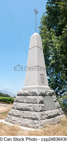 Stock Photos of Du Preez family Monument in Paarl.