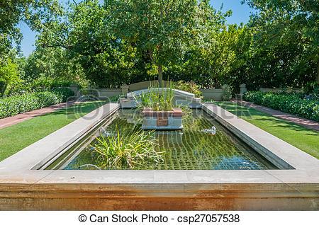 Stock Photos of Formal garden on a farm near Paarl.