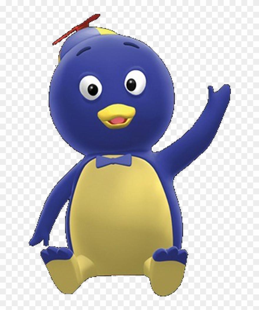 Pablo Blue Penguin Sitting Of The Backyardigans.