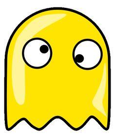 Pac man ghost clip art.