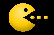 Pac Man Dots Clipart.