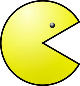 Yellow Pacman Clip Art at Clker.com.
