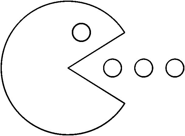 Pacman 2 Line Art.