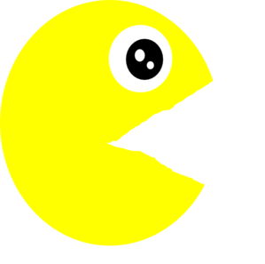 Pacman Clip Art at Clker.com.