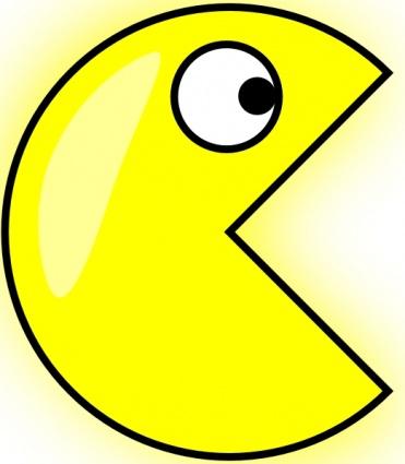 Pacman clip art Free Vector.
