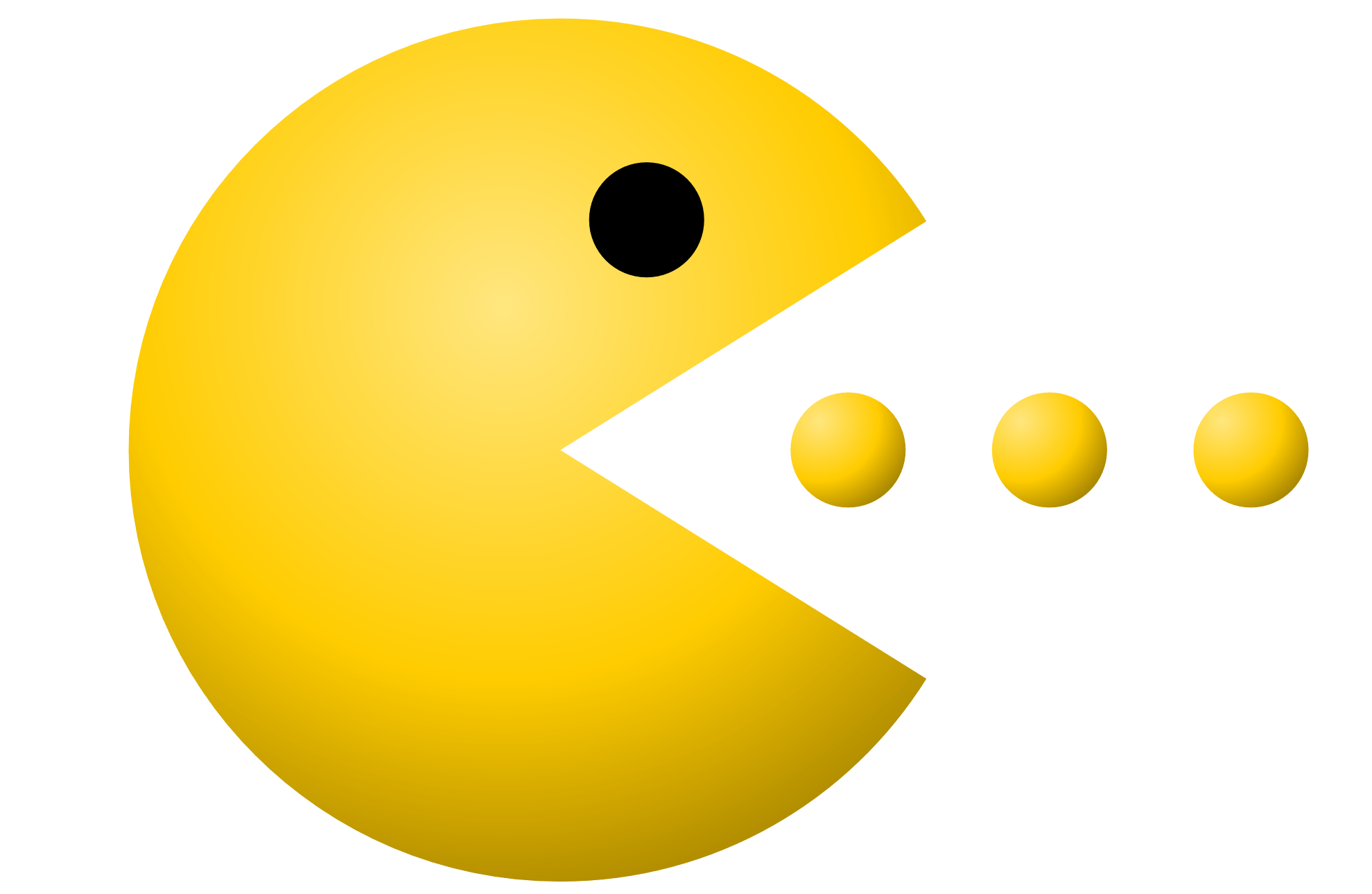 Pacman Eating transparent PNG.