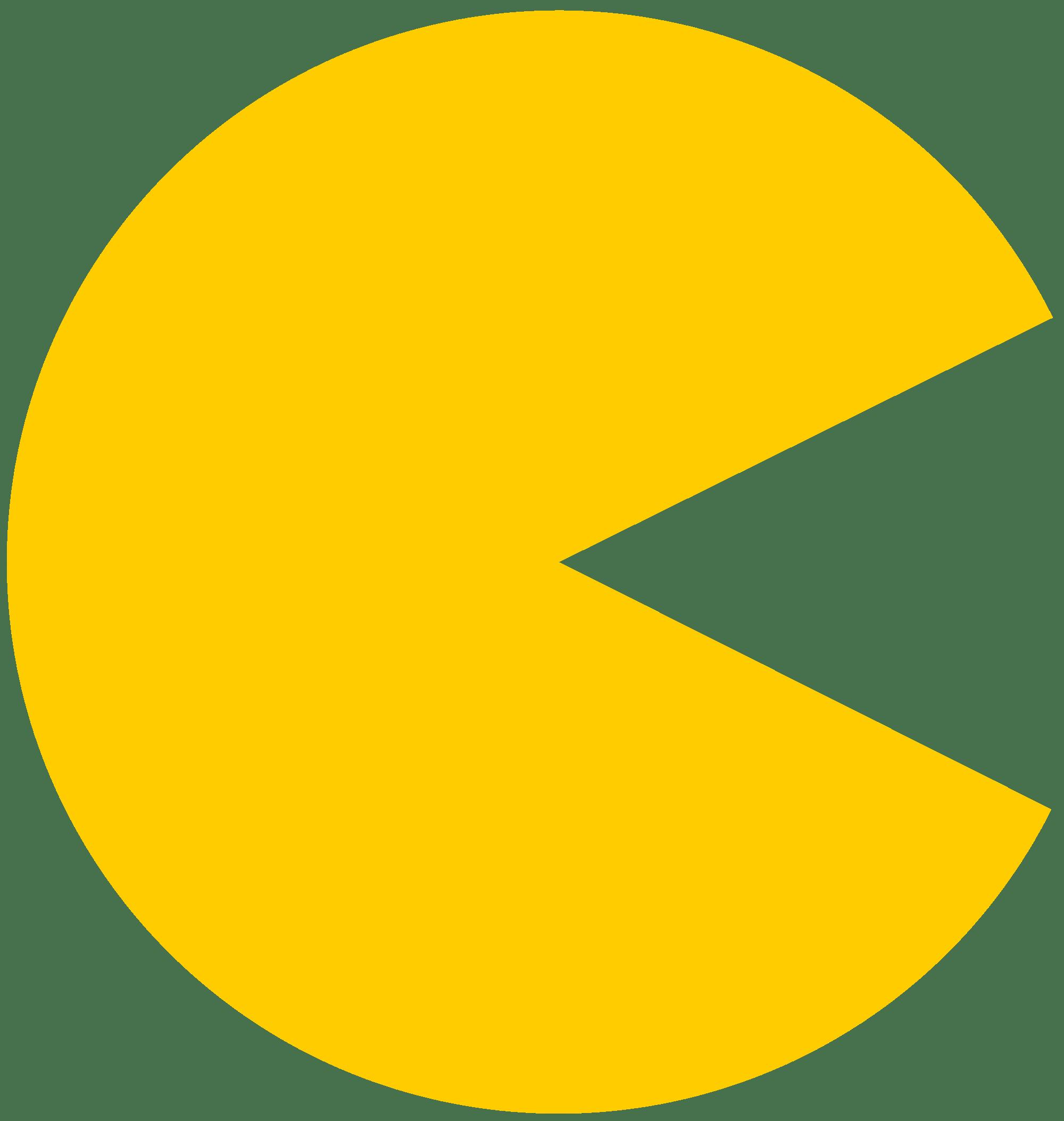 Pac Man Plain Yellow transparent PNG.