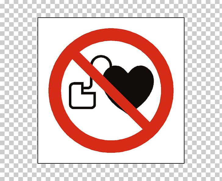 Artificial Cardiac Pacemaker Sign ISO 7010 Safety Symbol PNG.