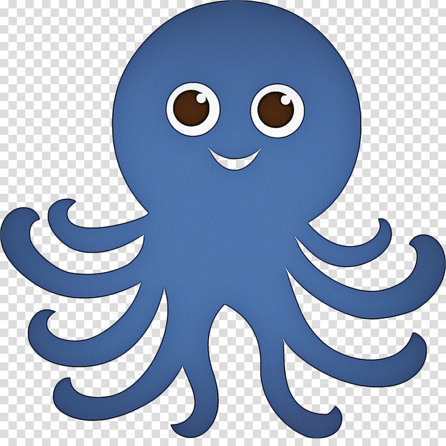 octopus giant pacific octopus blue cartoon octopus clipart.