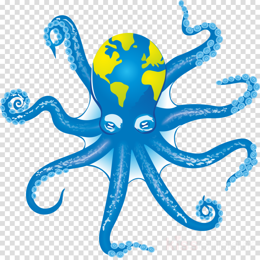 octopus giant pacific octopus octopus blue clipart.