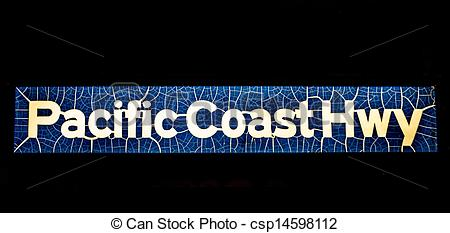 Stock Photography of pacific coast highway sign csp14598112.